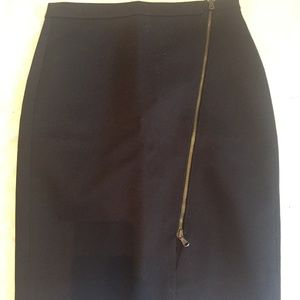 J. Crew Petite Zip Pencil Skirt